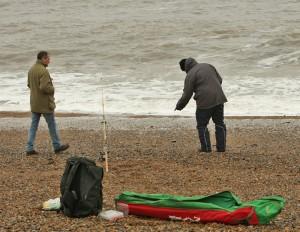 Fiskare på Salthouse Beach